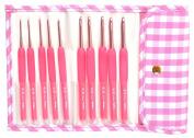 Tulip Pink Etimo Candy Cushion Grip Crochet Hook Set
