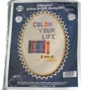 NeedleMagic, Inc. Stamped Cross Stitch Kit 9511 Colour Your Life