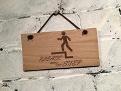 """Please mind the step"" shabby chic sign. Suitable for hotels/bars/cafes/pubs/offices or home."