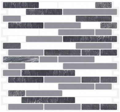Cocotik Peel & Stick Brick Kitchen Backsplash Self-adhesive 3D Wall Tile Stone , Grey Design , Pack of 10