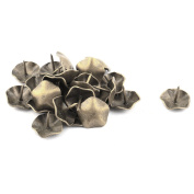 sourcingmap® Metal Furniture Accessory Flower Designed Upholstery Tack Nail 25pcs Bronze Tone