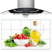 Gemini_mall® Kitchen Wall Sticker Adhesive Hot-proof Oil-proof Tile Decal Stickers