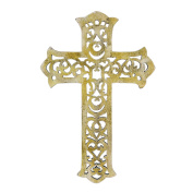 Stonebriar SB-5936A Accents of Faith 38cm White Decorative Wooden Wall Cross