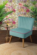 MY-Furniture - Oyster Aqua High Quality Upholstered Retro occasional Chair - Lola
