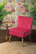 MY-Furniture - Oyster Pink High Quality Upholstered Retro occasional Chair - Lola