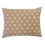 Vivai Home Peach Cotton Ball Rectangle 12x 20 Feather Throw Pillow
