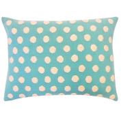 Vivai Home Turquoise Cotton Ball Rectangle 12x 20 Feather Throw Pillow
