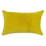 Vivai Home Yellow Solid Colour Rectangle 12x 20 Cotton Feather Throw Pillow