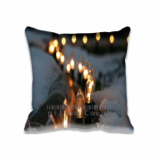 Square 50cm x 50cm Zippered Outdoor Lighting, Winter Pillowcases Digital Print Adults Kids Cushion Covers