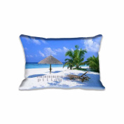 Rest Area Nature Beach Pillowcase 41cm x 60cm inch Two Sides Comfortable Zippered Pillow Cover Cases for Kids Family Gift