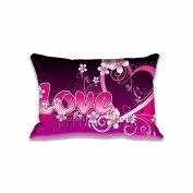 41cm x 60cm Pillow Protector Pink Love Cute Pillow Cover Home Decorative Kids Gift Pillow Cushion Cover