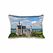 Castle Neuschwanstein Pillowcase 50cm x 80cm inch Two Sides Comfortable Zippered Pillow Cover Cases for Kids Family Gift
