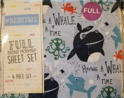 "#Bedtime Full Sheet Set ""Having a Whale of a Time"" Whale Shark Octopus"