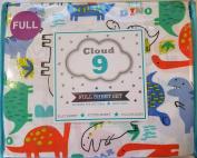Cloud 9 Dinosaur Full Sheet Set in Green Orange Blue Purple ROAR