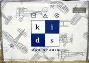 Max Studio Kids Vintage Aeroplane Schematic Line Drawing Sheet Set, Full Size