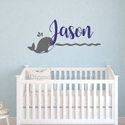 Nautical Wall Decal - Whale Name Wall Decal - Personalised Baby Name Wall Decal - Baby Room Decor