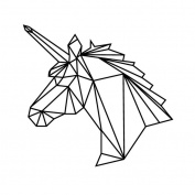 Bobury Geometric Unicorn Wall Sticker Removable Horse Head Vinyl Decals Home Decor