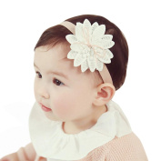 Alonea Newborn Baby Hair Sharp Angle Flower Headband Ribbon Toddler Hairband