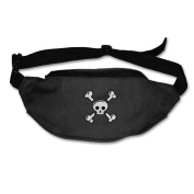 Skull And Crossbones Men Women Outdoors Unique Belt Bag Waist Pack Suitable For Anyone