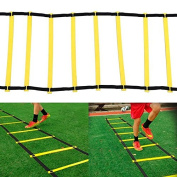 Topeakmart 8-rung 4m Agility Ladder Speed Fitness Yellow