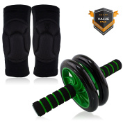 Beast Pump Ab Roller Wheel Core Abdominal Trainer + Knee Pads Protector