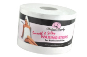 Smooth & Silky Bleached Muslin Waxing Strips Roll 7.6cm - 1.3cm x 40 / Yard Firm White Material