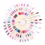 Tmalltide 150 Tips 3 Knots Nail Art Display Board Nails With Ring Salon Tool Makeup Chart Colour Sample Practise Fan Nail Polish Display