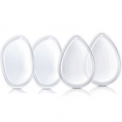 Elome 4 Pack Silicone Clear Gel Makeup Puff Beauty Sponge Applicator Blender With Case, for Liquid Foundation, BB Cream, Washable Cosmetic Tool