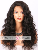 Chantiche 360 Wigs with Baby Hair Brazilian 360 Lace Frontal Wig Pre Plucked for Black Women Curly Human Hair Wigs Lace Front Natural Brown 41cm