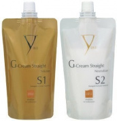 Yuko G-Cream Straight Damaged-Chemically Treated Hair - Solution & Neutralizer Set
