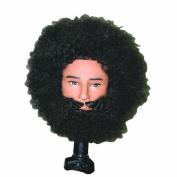 Celebrity Tyrone Afro Manikin Wi Beard and Mousta Hair Cutting Kit
