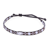 KELITCH Seed Beaded Waxed-Cord Bracelet with Natural Freshwater Pearl - A