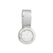 JOBO Charm 585 White Gold with 1 Diamond 0,25ct. [Jewellery]