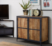 Arizona Urban Industrial Small 2 Door Cupboard Sideboard