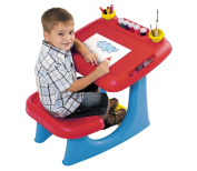Keter Sit & Draw Kids Art Table Creativity Desk with Arts & Crafts Storage and Removable Cups, Red