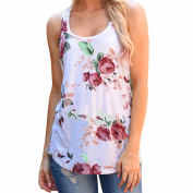 Xjp Summer Printed Tank Tops Vest T-Shirts for Women