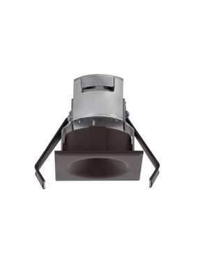 Ambiance Lighting Systems 920008-171 Niche - 6.8cm 24V 4.2W 3000K 1 LED Square Down Light, Painted Antique Bronze Finish