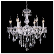 Cosway European Modern Style Crystal Lamp Fixture With 6 Lights 6 Lights Ceiling Chandelier