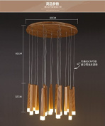 Solid Wooden personality creative simplicity restaurant Nordic LED single head solid wood long stick match pendant lights m