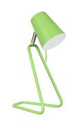 Aspen Creative 2 40103-2, 34cm High Modern Desk Apple Green Finish with Metal Lamp Shade, 12cm Wide 2 4