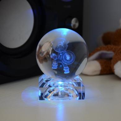 S-SO Captain America 3D K9 crystal ball Desk table LED decoration light lamp