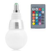 LIYUDL Colour Changing Lamp Bulb, E14 10W 85-265V RGB LED Light with Remote Control