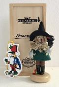 Steinbach Scarecrow Signed LE Mini Nutcracker