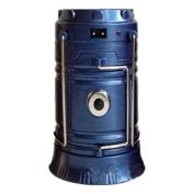 Gaosaili Multifunction Telescopic Solar Camping Light Flashlight LED Light Blue