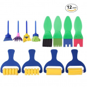 DIY Painting Brushes Toy, Luvu Mini Early Learning Hobby Painting Tools for Kids 12 PCS
