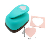 Scalloped Heart Flower Lever Action Craft Punch for Paper Crafting Scrapbooking Cards Arts DIY Project