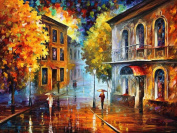 LIPHISFUN NEW DIY 5D Diamond Painting Rain In The City Full Resin Square Drill Decor Mosaic Unfinished Embroidery Decor