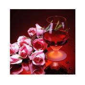 5D DIY Diamond Painting ,Cross Stitch Kit ,Awakingdemi Red Wine Rose 5D Diamond DIY Painting Kit Home Decor Craft