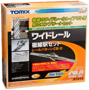TOMIX NGauge Wide Rail Double-track Station SetCB-D 91014 Rail Transport Modelling Supplies