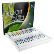 Gouache,Korean Memory 24 Colours Professional Watercolour Gouache Paint Set